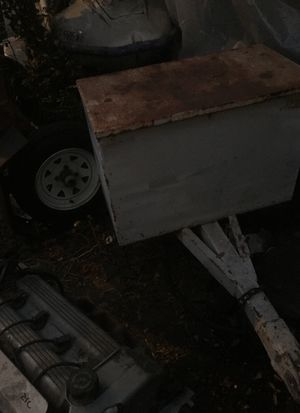 Kawasaki wave runner and trailer no paper work bill of sale motor all there need spark box for Sale in Whittier, CA