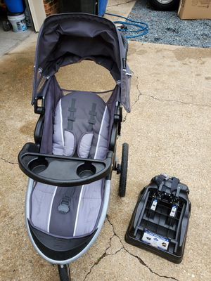 Baby Trend Jogging stroller, car seat , and base for Sale in Virginia Beach, VA