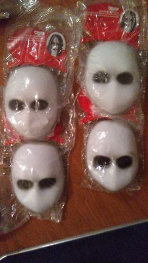 Blank black eyes doll mask Halloween mask for Sale in Las Vegas, NV