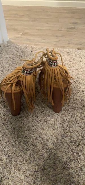 Mustard Aztec chunky heals for Sale in Austin, TX