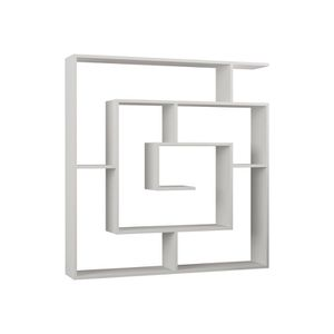 White Geometric Bookcase for Sale in San Diego, CA