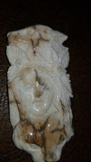 Carved antique Alaskan walrus bone for Sale in Wellington, FL