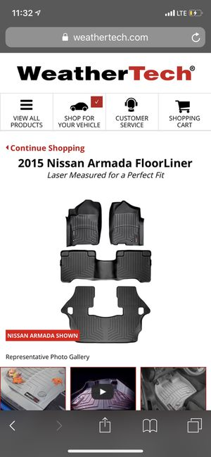 Weather Tech mats for Nissan Armada for Sale in Cheyenne, WY
