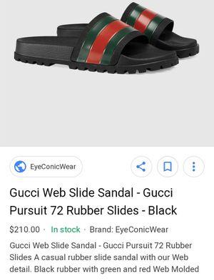 Gucci Web Slides Men's Size 12 for Sale in Salt Lake City, UT