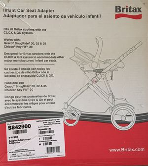 Infant Car Seat Adapter- Britax, Graco, Chicco compatible for Sale in Seattle, WA