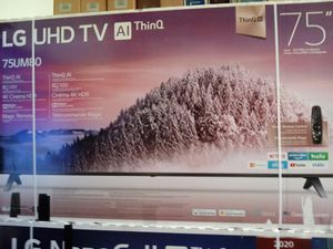 "75"" lg 4k smart led tv for Sale in Anaheim, CA"