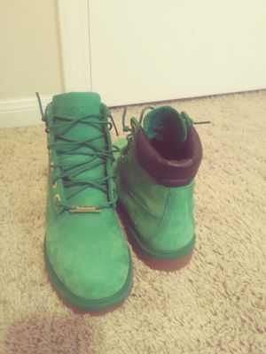 Green Timberland Boots size 5 for Sale in Hutto, TX