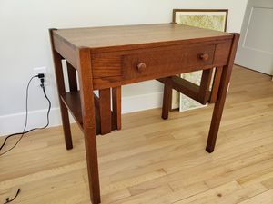Vintage 1930s 1940s solid mahogany and walnut wood desk for Sale in Winter Garden, FL