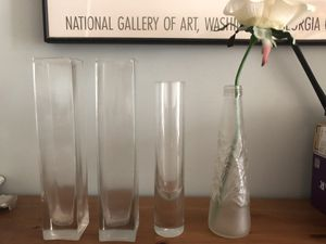 Collection of vases, accent pieces, lantern, candle holders, art for Sale in New York, NY