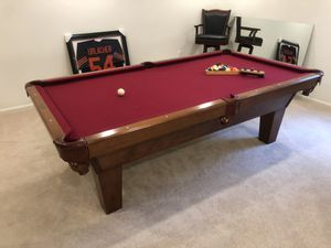 Olhausen Cherry Pool Table w/Accessories for Sale in Leesburg, VA