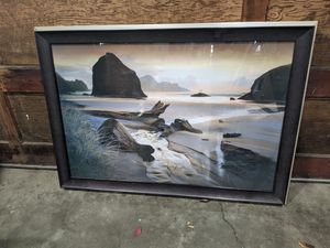 Oregon coast framed photo for Sale in Portland, OR