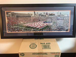 "Classic Soldier Field photo wooden frame glass. 36""x18"" for Sale in Burr Ridge, IL"