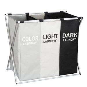 3 Sections Foldable Wash Bag Clothes Indoor Bathroom Hamper for Laundry for Sale in Fremont, CA