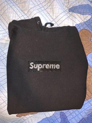 Supreme Swarovski box logo black hoodie for Sale in Princeton, NJ