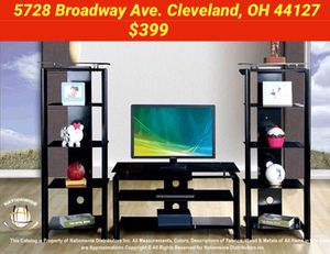 $399 TV Stand and Shelves: Mattress& Furniture 4 Less for Sale in Cleveland, OH