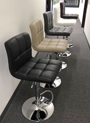 """NEW $40 each 24"""" to 33"""" seat height swivel barstool bar chair black brown grey or white for Sale in Whittier, CA"""