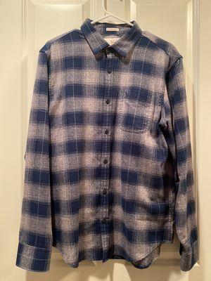Men's Penguin blue slim fit plaid shirt - size large for Sale in Fairfax, VA