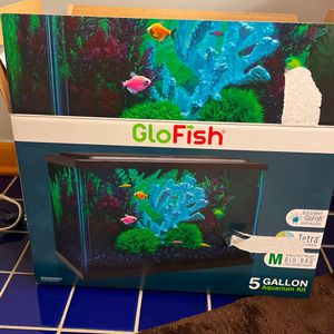 Glofish 5 Gallon Acquarium Kit (with All Things Needed) for Sale in Naperville, IL