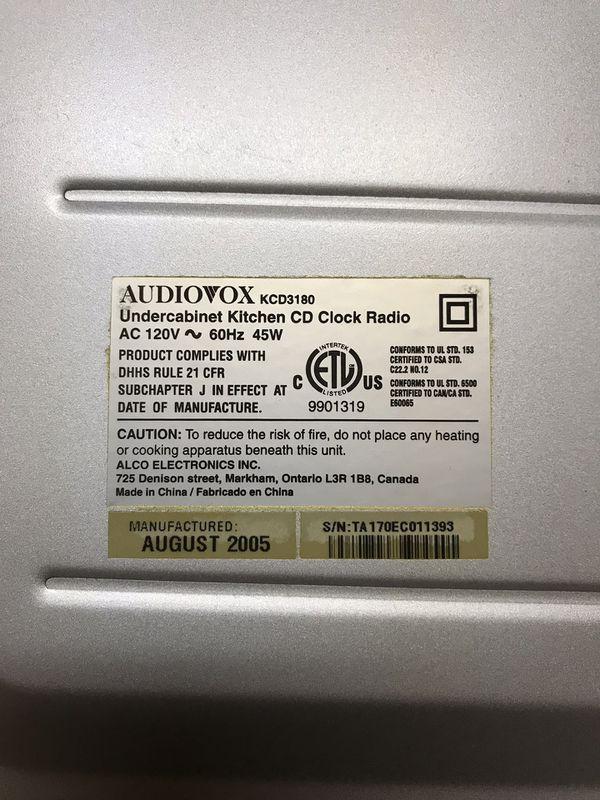 Kitchen Under Cabinet CD Radio