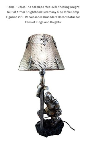 NWT medieval Knight nightstand lamp for Sale in Naperville, IL