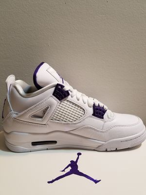 Nike Air Jordan 4 Retro Metallic Purple size 8 in mens for Sale in Ellicott City, MD