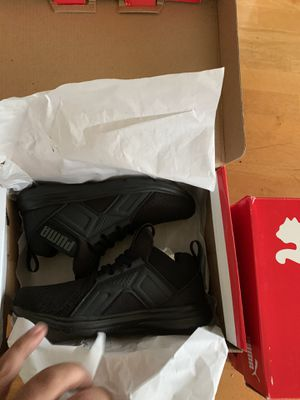 Kids brand new pumas enzos size 12 a half for Sale in Toms River, NJ