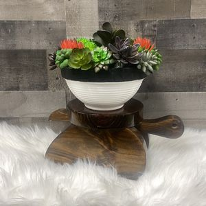 Vintage Solid Wood Turtle Plant Stand / Mini Table for Sale in Punta Gorda, FL