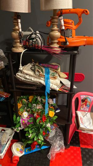All shelves and decorations, mirror on sale for Sale in Herndon, VA