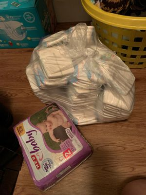 Baby pampers infant and size 2 for Sale in San Antonio, TX