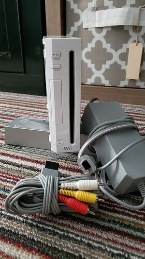 Wii console with stand, plug, and adapters for Sale in Fond du Lac, WI