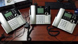 V Tech 4 line business phones, CM 18445, CM 18425 for Sale in Virginia Beach, VA