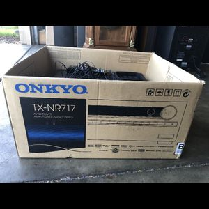 Onkyo TX-NR717 7.2-Channel Network AV HDMI Receiver W REMOTE(NO SOUND For REPAIR ) for Sale in San Jose, CA