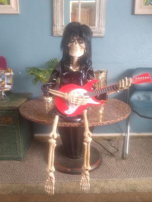 BONE JETT Musical Skeleton I Love Rock N Roll Red Guitar Joan Jett Animatronic! for Sale in Orange, CA