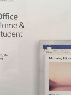 New Microsoft Office Home & Student 2019 PC/Mac Software Sealed for Sale in Cerritos,  CA
