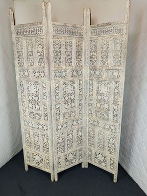 Vintage teak folding screen privacy room divided 3 for Sale in Bell Gardens, CA