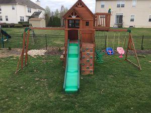 Skyfort 2. Wooden swing set. for Sale in Riverton, NJ