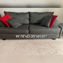 Charcoal Gray Sofa for Sale in NJ,  US