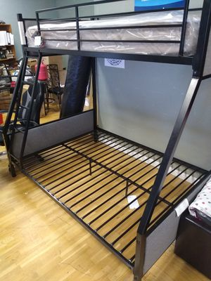 Metal Twin size over Full size bunk bed frame for Sale in Glendale, AZ