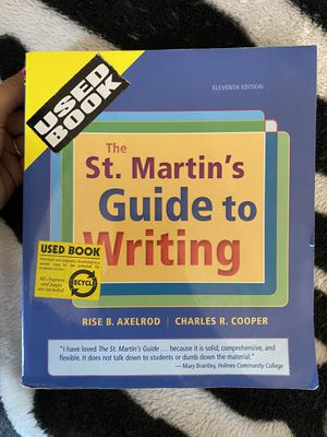 The St. Martins guide to writing (college book) for Sale in Jurupa Valley, CA