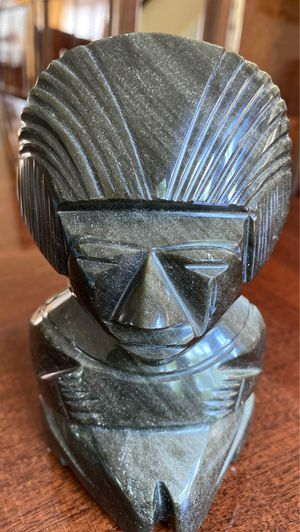 Stone carved Mexican 5 inch tall statue for Sale in West Palm Beach, FL