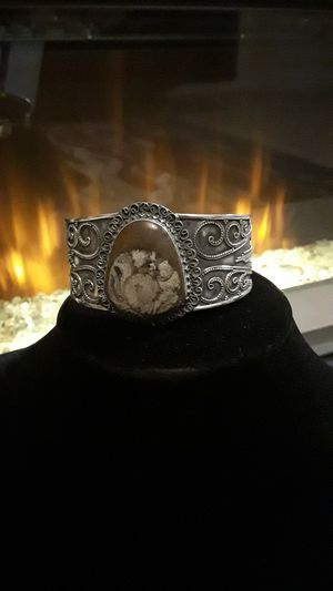 Rare gemstone 925 stamped cuff for Sale in Gibsonton, FL