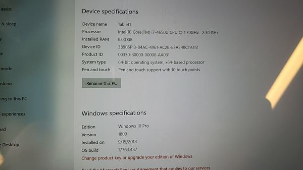Surface Pro 3 i7 512gb/8gb Ram