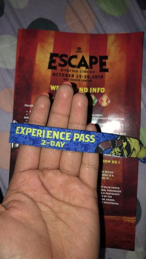 ESCAPE TICKET FOR SALE for Sale in Perris, CA
