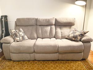 3-person, double recliner; Mid-couch console - 2 years old for Sale in Washington, DC