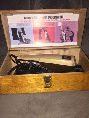 Vintage GE shoe box with Presto electric shoe polisher Clean and works for Sale in Clearwater, FL