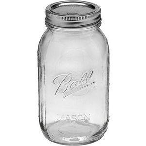 Ball Glass Mason Jar with Lid and Band, Wide Mouth, 32 Ounces, 6 Count for Sale in Whittier, CA