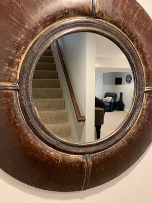 Round wall mirror ...statement piece for Sale in Framingham, MA
