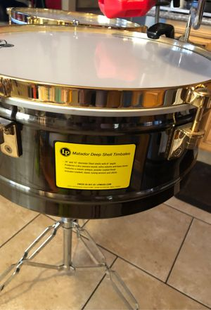 Timbales Matador LP.....brushed nickel..14 and 15 inches ...stand....no cow bell and cymbal .. for Sale in Richmond, CA