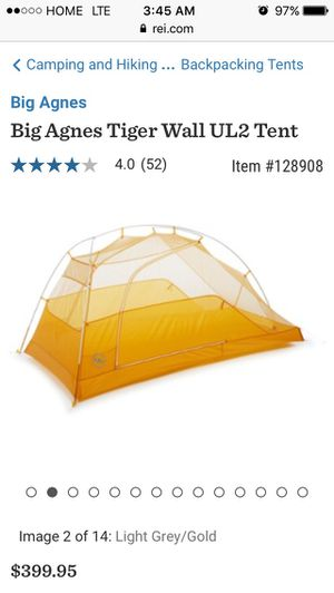 Big Agnes Tiger Wall UL2 Tent for Sale in Santee, CA