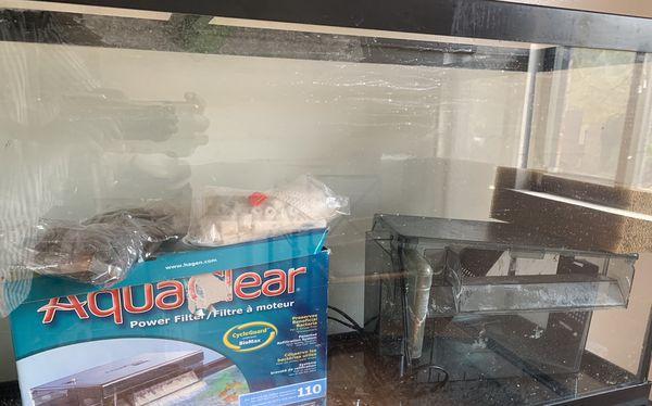 55 gallon aquarium fish tank and Aquaclear filter